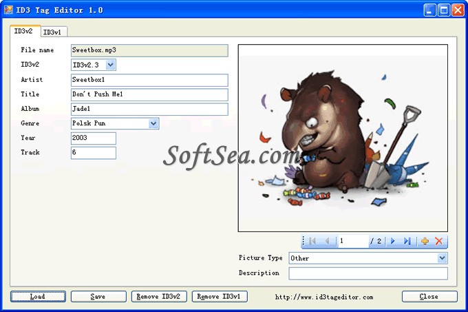 ID3 Tag Editor Screenshot