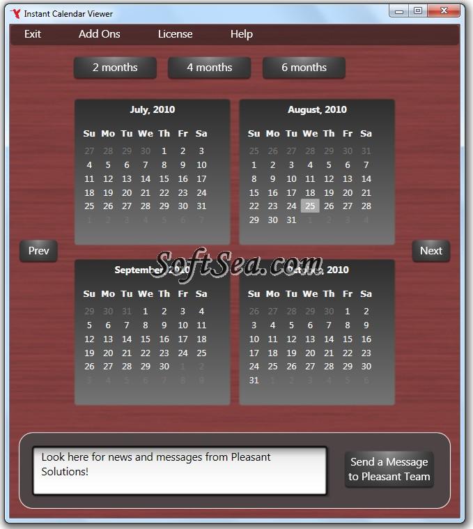 Instant Calendar Viewer Screenshot