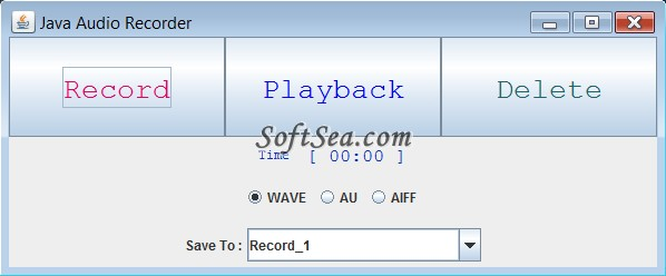 Java Audio Recorder Screenshot