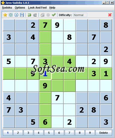 Java Sudoku Screenshot