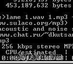 LAME MP3 Encoder Screenshot