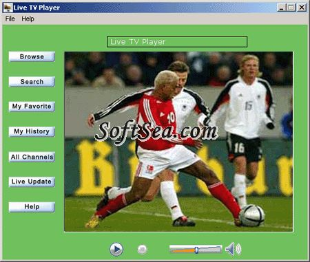 Live TV Player Screenshot