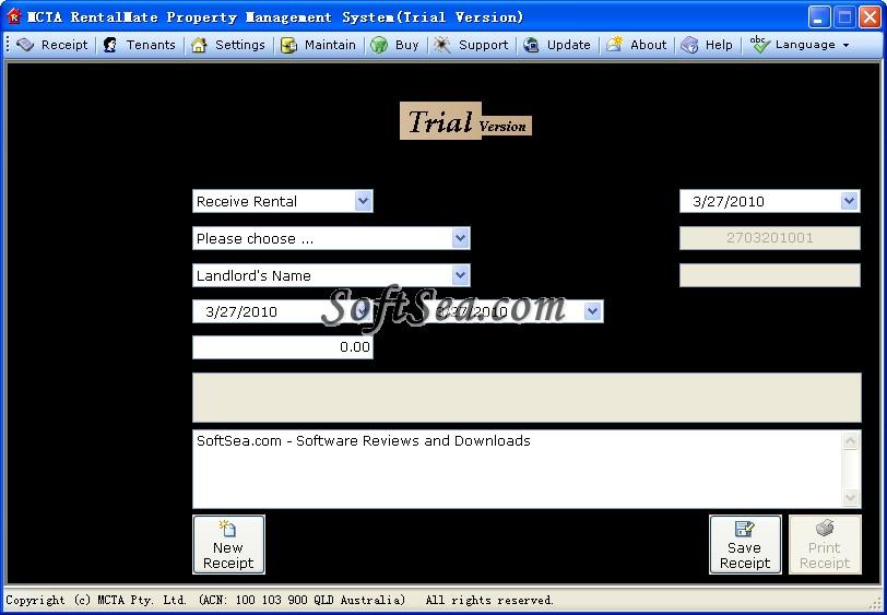 MCTA RentalMate Property Management Screenshot