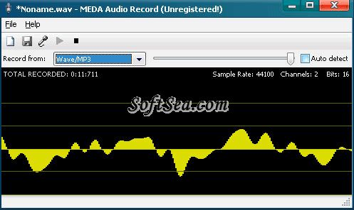 MEDA Audio Recorder Screenshot