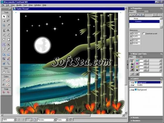 Macromedia FreeHand MX Screenshot