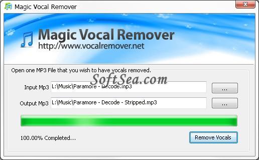 Magic Vocal Remover Screenshot