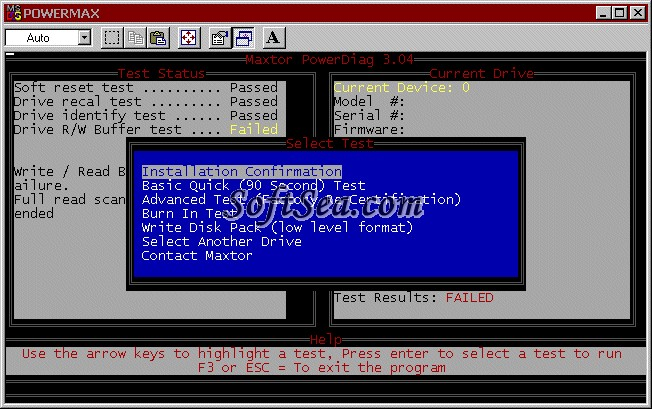 Maxtor Powermax Screenshot
