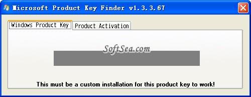 Microsoft Product Key Finder Screenshot