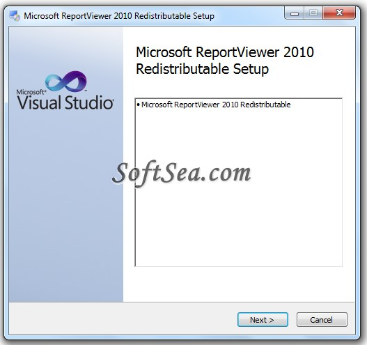 Microsoft Report Viewer Screenshot
