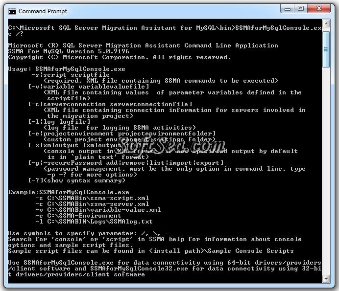 Microsoft SQL Server Migration Assistant for MySQL Screenshot