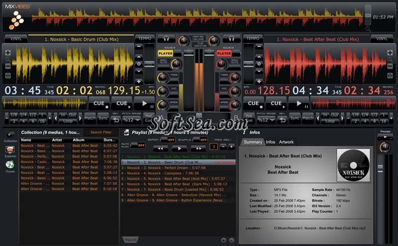 MixVibes Cross Screenshot