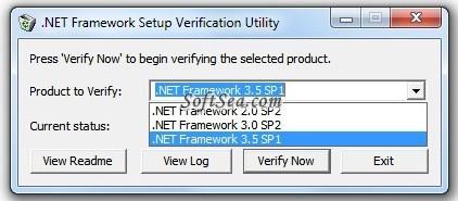 .NET Framework Setup Verification Utility Screenshot