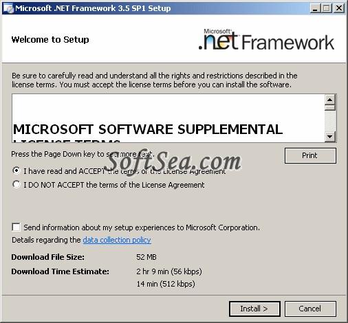 .NET Framework x64 (64-bit) Screenshot