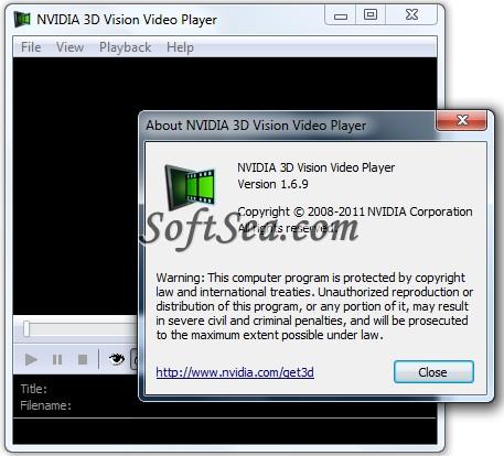 NVIDIA 3D Vision Video Player Screenshot