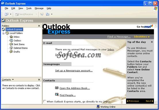 Outlook Express Screenshot