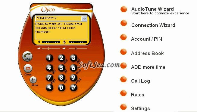 Oyco VoIP Dialer Screenshot