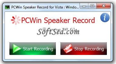 PCWIN Speaker Record Screenshot