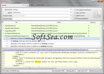 PHiSearch Screenshot