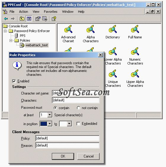 Password Policy Enforcer Screenshot