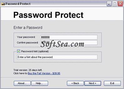 Password Protect USB Screenshot