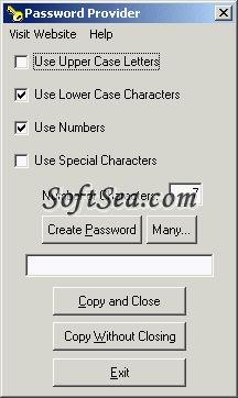 Password Provider Screenshot