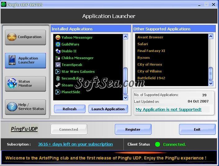PingFu UDP Screenshot