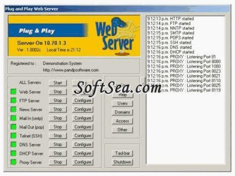 Plug and Play Servers Screenshot