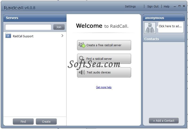 Raidcall Screenshot