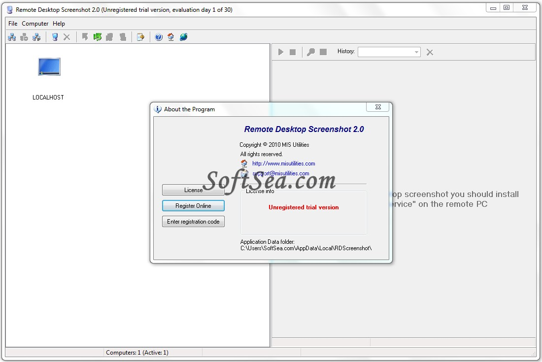 Remote Desktop Screenshot Screenshot