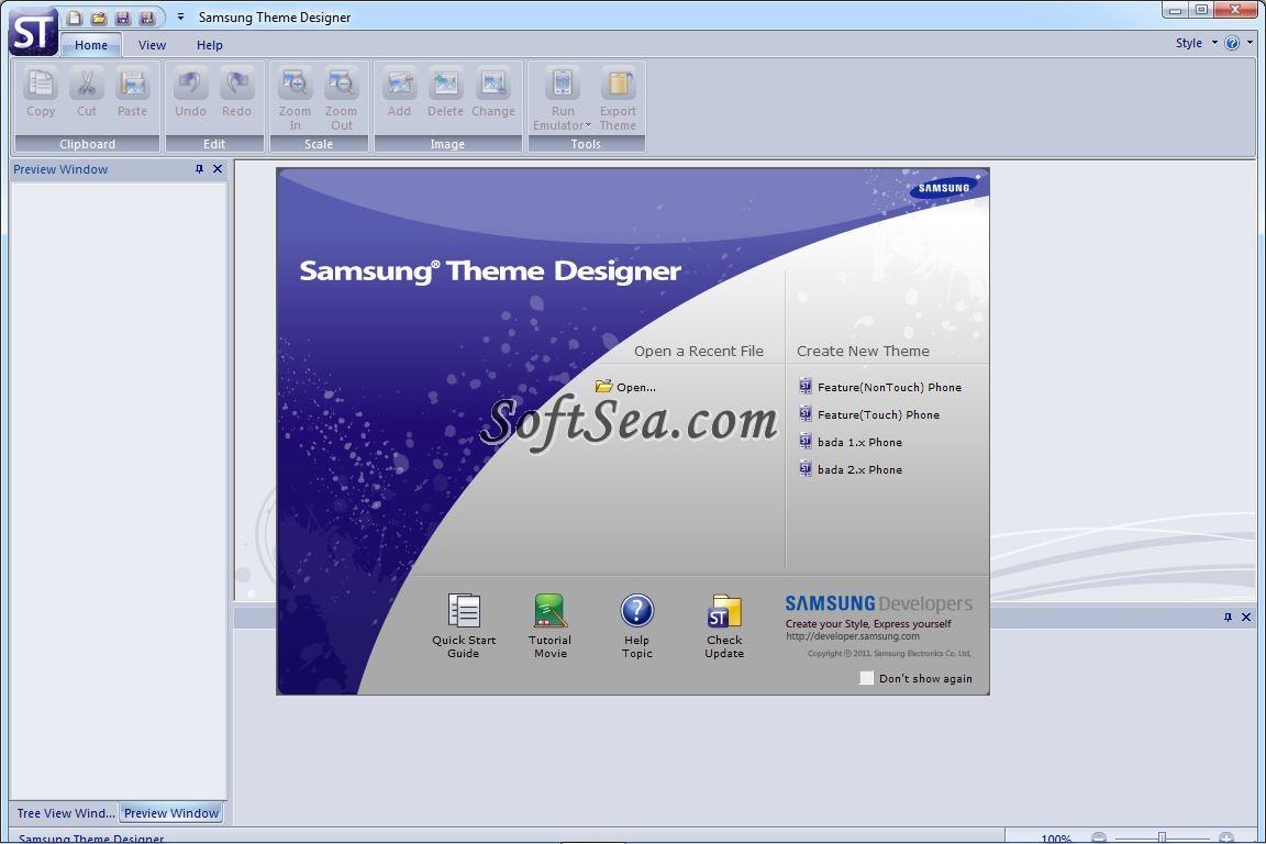 Samsung Theme Designer Screenshot
