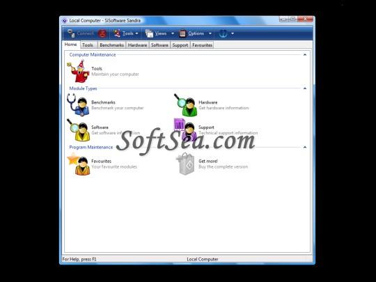 SiSoftware Sandra Lite Screenshot