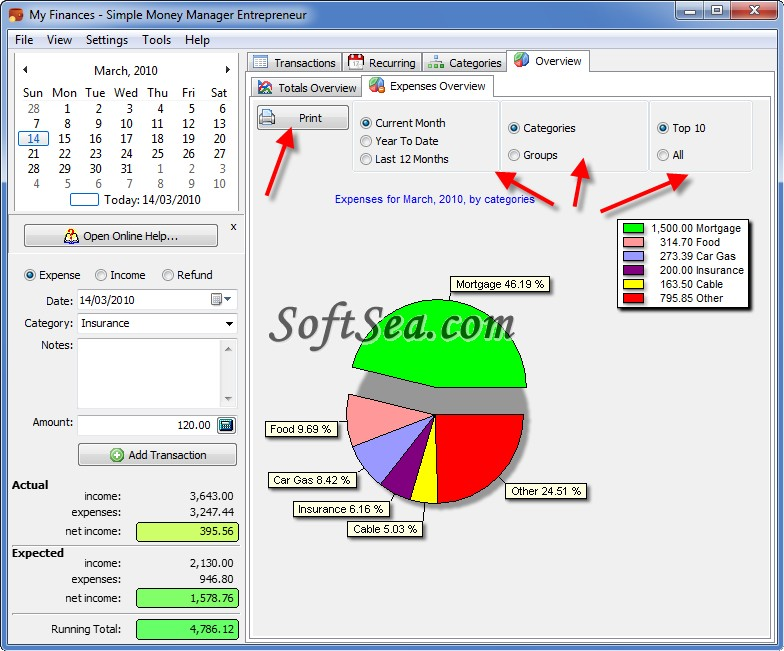 Simple Money Manager Screenshot