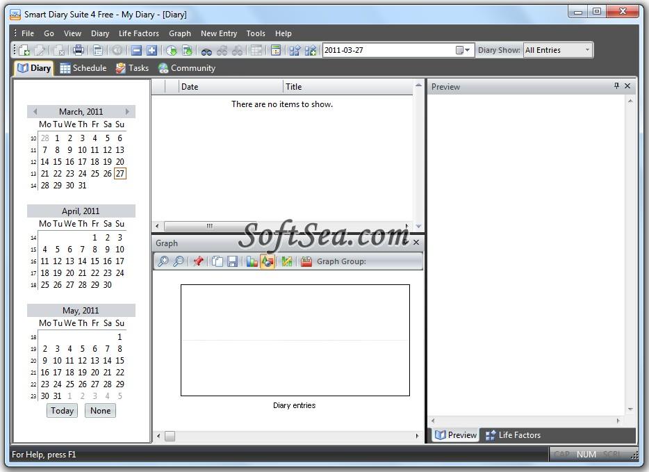 Smart Diary Suite Free Screenshot