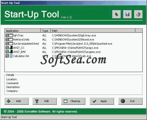 StartUp Screenshot