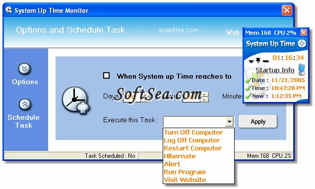 System Up Time Monitor Screenshot
