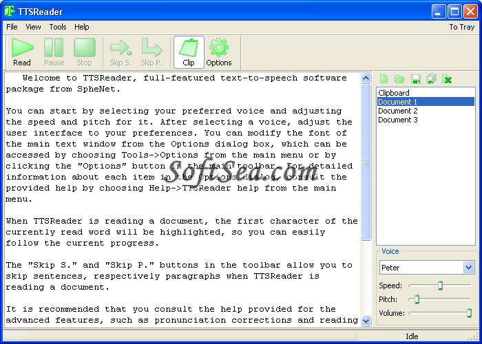 TTSReader Screenshot