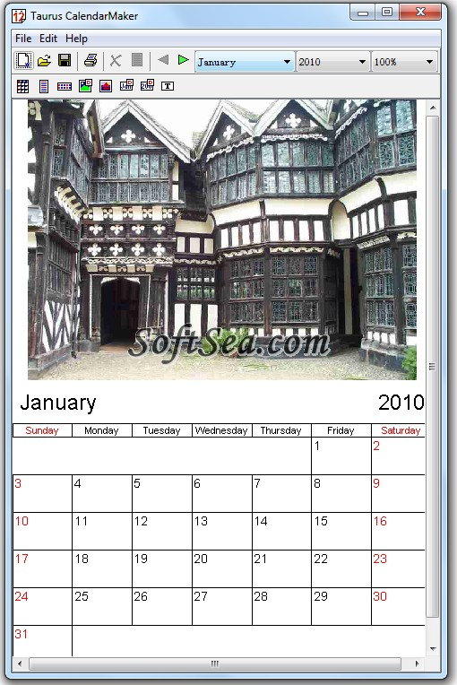 Taurus CalendarMaker Screenshot