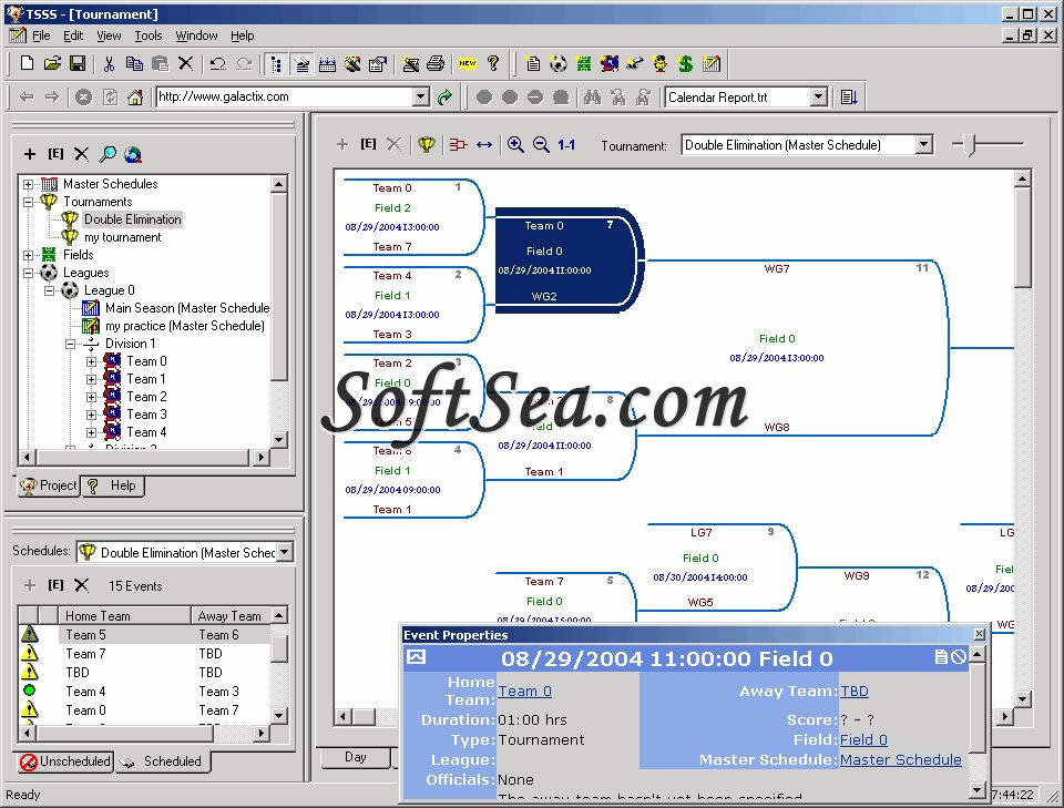Team Sports Scheduling System Screenshot