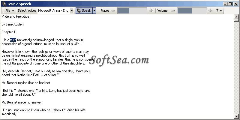 Text2Speech Screenshot
