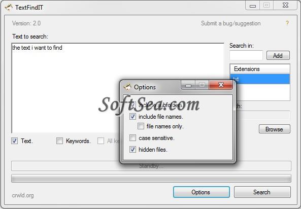 TextFindIT Screenshot