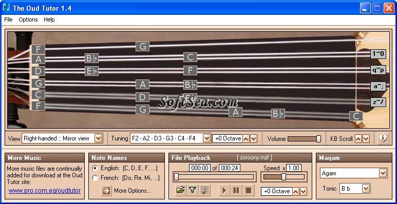 The Oud Tutor Screenshot