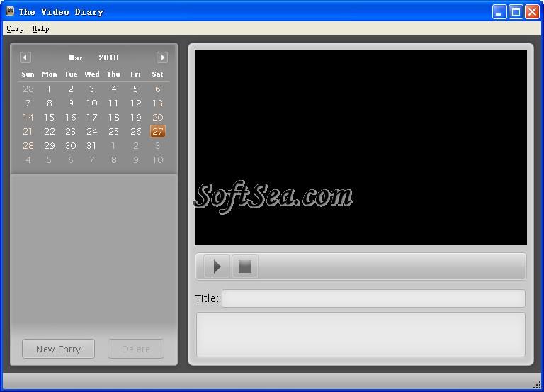 The Video Diary Screenshot