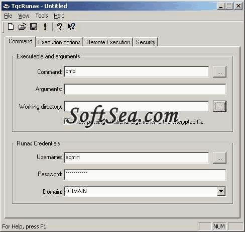 TqcRunas Screenshot