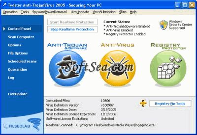 Twister Anti-TrojanVirus Screenshot