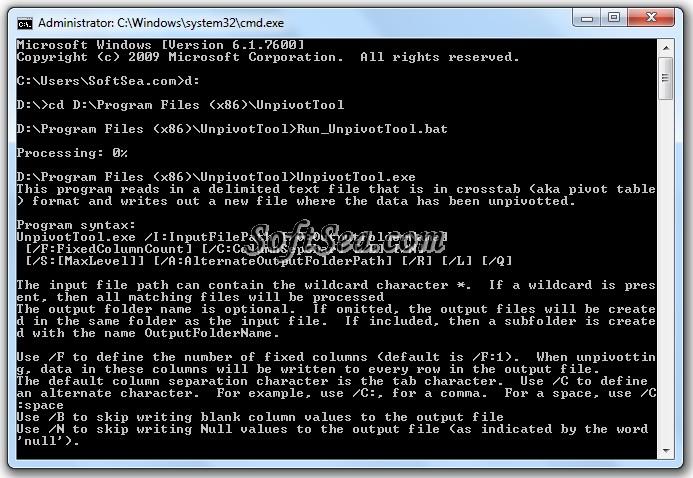 Unpivot Tool Screenshot