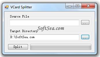 VCard Splitter Screenshot