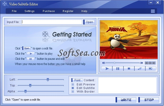 Video Subtitle Editor Screenshot