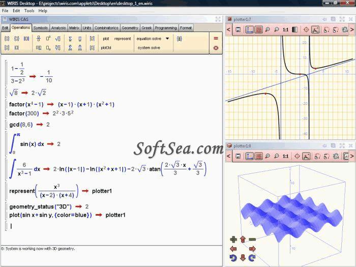 WIRIS Desktop Screenshot