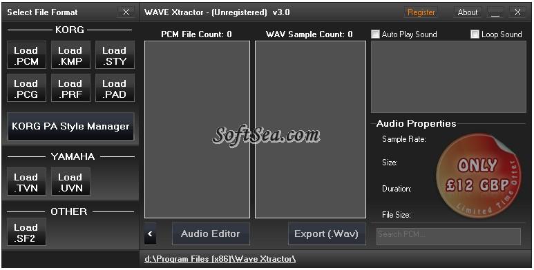 Wave Xtractor Screenshot