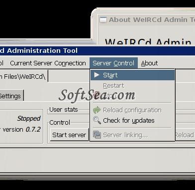 WeIRCd Screenshot